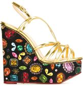 Charlotte Olympia 'Elizabeth' sandals - women - Calf Leather/Canvas - 35