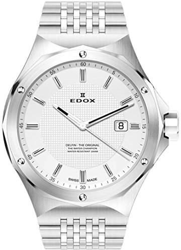 Edox Men's 53005 3M AIN Delfin Analog Display Swiss Quartz Watch