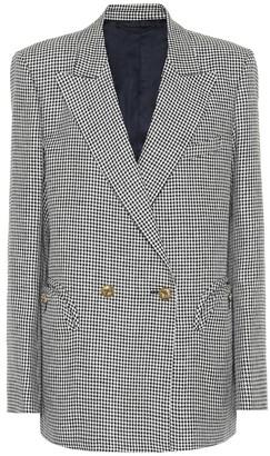 BLAZÉ MILANO Everynight checked linen blazer