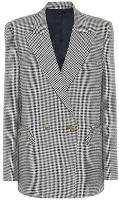 BLAZÉ MILANO Everynight checked linen blazer