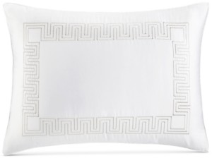 Hotel Collection Greek Key Cotton Platinum King Sham, Created for Macy's Bedding