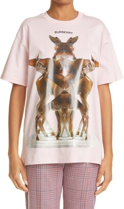 Burberry Carrick Kaleidoscope Oversize Graphic Tee
