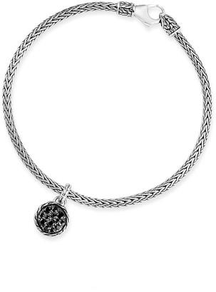 John Hardy Classic Chain Black Spinel & Sapphire Charm Bracelet, Size S-L