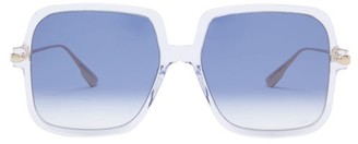 Christian Dior Diorlink1 Square Acetate Sunglasses - Clear