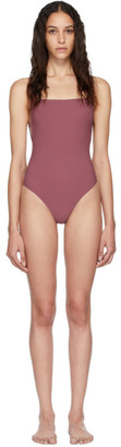 Lido Purple Geometrical Straps One-Piece Swimsuit