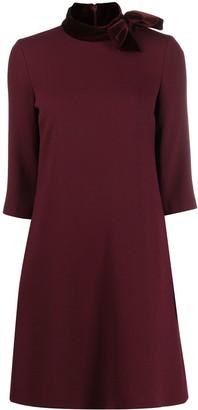 Goat Kensington bow-neck dress
