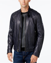 Andrew Marc Men's Boarder Evergrain Leather Moto Jacket