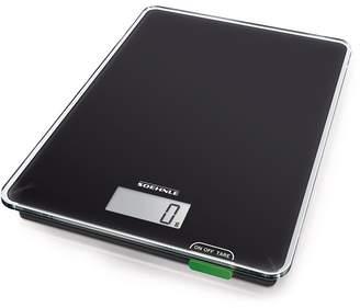 Soehnle Page Compact 100 Glass Digital Kitchen Scale 20 x 16 Black