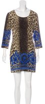Versace Leopard Print Shift Dress