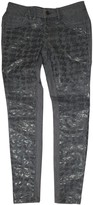 Vera Wang Grey Cotton Jeans for Women