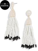 BaubleBar Piñata Tassel Earrings-White/Black