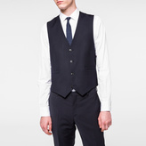Paul Smith Men's Tailored-Fit Navy 'A Suit To Travel In' Wool Waistcoat