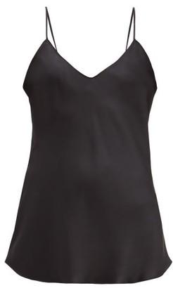 Nili Lotan Isabella V-neck Silk Camisole - Womens - Black