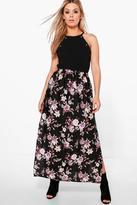 Boohoo Plus Penny Floral Maxi Skirt multi