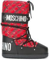 Moschino trompe-l'oeil snow boots