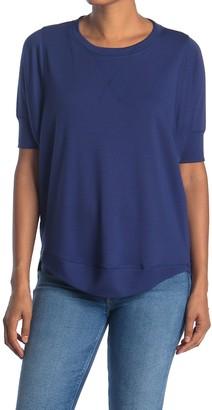Freeloader Lightweight Elbow Sleeve T-Shirt with High-Low Hem
