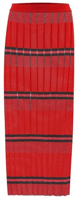Marni Striped knit midi skirt