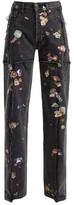 Vetements Sticker Mid-rise Straight Leg Jeans - Womens - Dark Grey