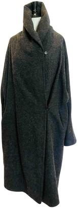 N. \n Grey Wool Coat for Women