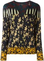 Etro v-neck printed blouse