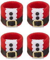 John Lewis Santa Napkin Rings, Red/Multi, Set of 4
