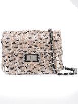 Monique Lhuillier sequinned shoulder bag - women - Satin/Satin Ribbon/Sequin - One Size