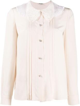 Miu Miu Lace-Collar Blouse