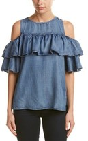 Do & Be DO+BE Do+be Cold-shoulder Ruffle Top.