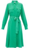 Diane von Furstenberg Antonette Silk-crepe Shirtdress - Womens - Green