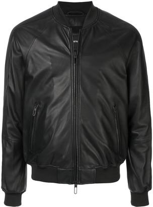 Emporio Armani faux leather bomber jacket