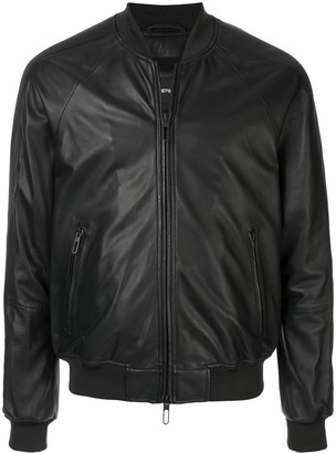Emporio Armani Faux Leather Bomber Jacket