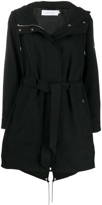 Calvin Klein Tie-waist parka coat
