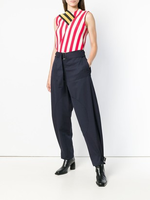 J.W.Anderson women's navy fold front utility trousers