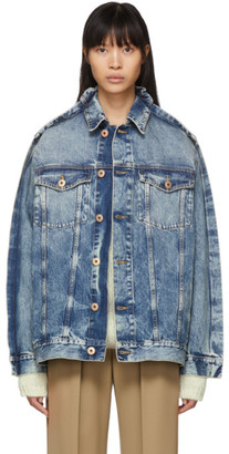Maison Margiela Blue Denim Double Collar Jacket