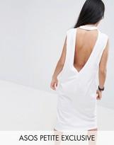 Asos Midi Sleeveless T-Shirt Dress with V Back