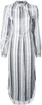 Ann Demeulemeester striped dress - women - Ramie/Polyester - 38