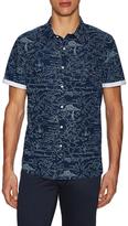 Jachs Printed Button Up Sportshirt