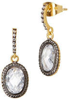 Freida Rothman Tiny Raindrop CZ Stones Earrings