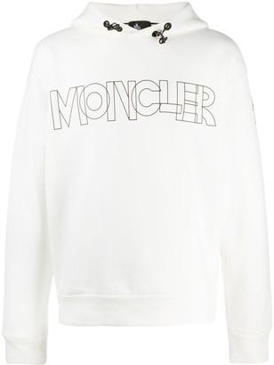 MONCLER GRENOBLE Logo-Print Long-Sleeved Hoodie