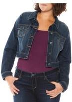 Plus Size Women's Slink Jeans Crop Denim Jacket