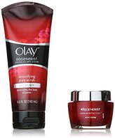 Olay Regenerist Micro-Sculpting Cream And Detoxifying Pore Scrub Duo Pack 1 Kit