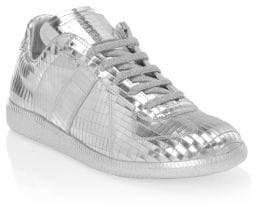 Maison Margiela Metallic Leather Replica Sneakers