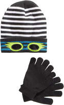 Berkshire 2-Pc. Striped Eye-Hole Hat and Gloves Set, Little Boys (2-7) and Big Boys (8-20)