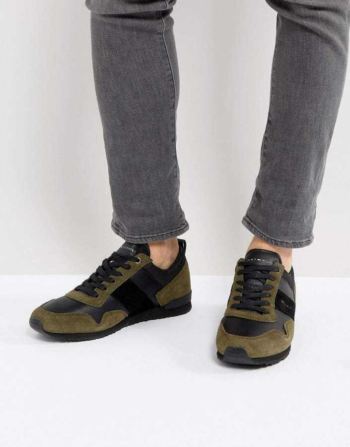 Tommy Hilfiger Maxwell Suede Sneakers In Olive