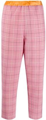 Marni plaid cropped trousers