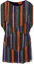 Missoni Fringed Metallic Crochet-knit Mini Dress - IT42