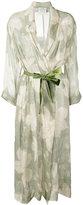 Forte Forte floral print belted coat