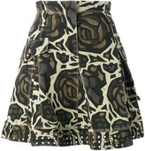 Fay roses camouflage skirt