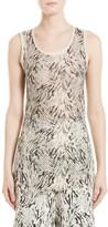 Women's Victor Alfaro Silk & Cashmere Zebra Mesh Tank