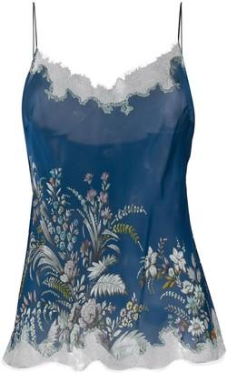 Carine Gilson Floral Print Silk Camisole